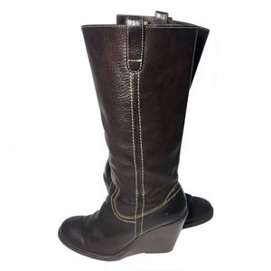 Frye 77337 Campus Caroline Brown Boots Size 8
